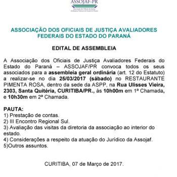 EDITAL DE ASSEMBLEIA