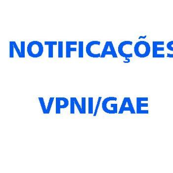 VPNI/GAE OFICIAIS DA JFPR NOTIFICADOS